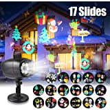 infinitoo 17 Motifs Projecteur Noël LED Extérieur Lumière Etanche, Lampe Décorative Eclairage, Lampe de Scène Parfait pour les Fêtes(Noël, Halloween.), Soirée, Carnaval, etc.