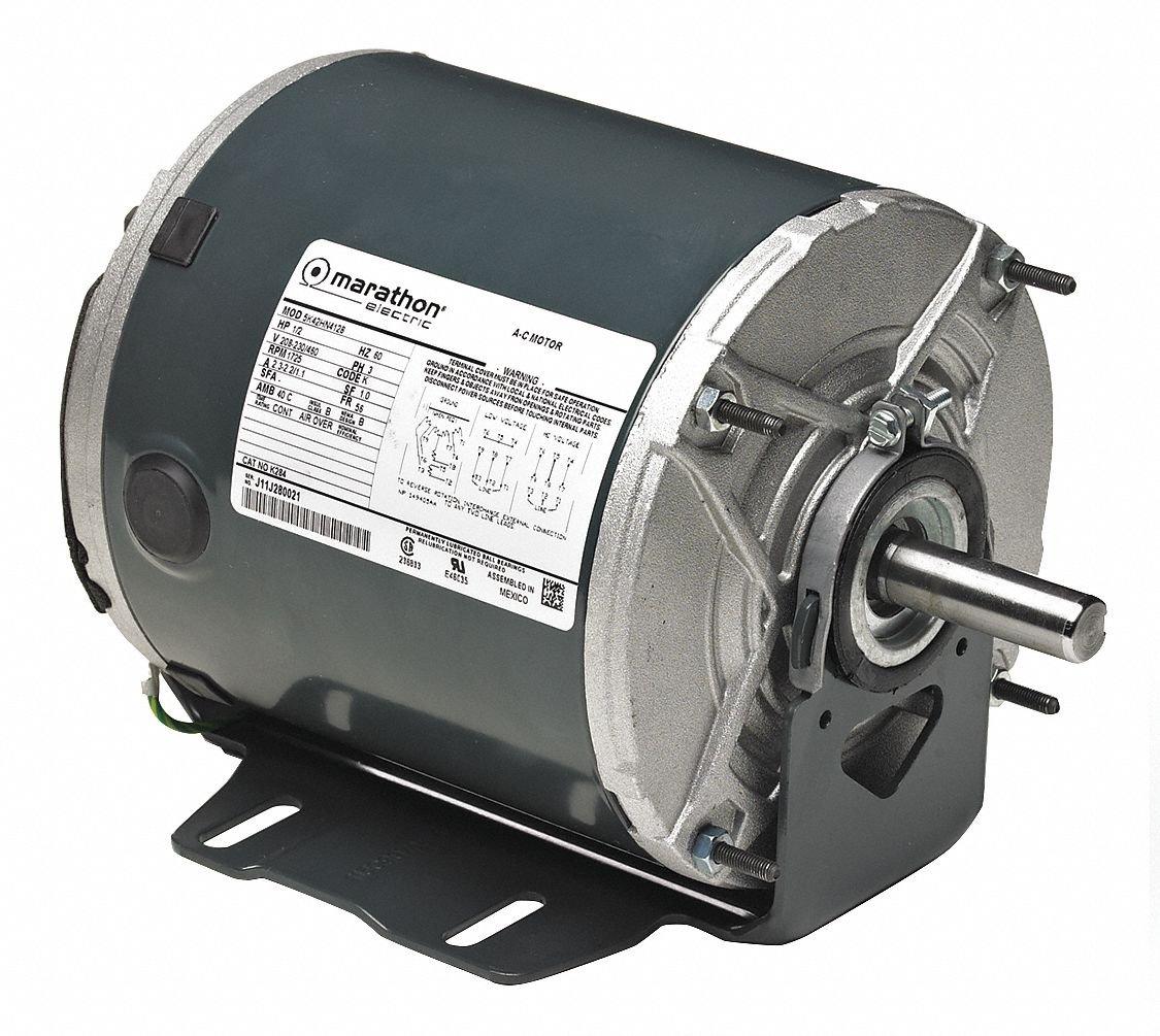 Belt Drive Motor, 1/3 HP, 1725 RPM
