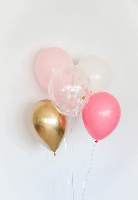 Princess Balloons Pink Balloon Bouquet Girl Baby Shower Decor Set of 5