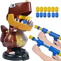 HAYZUSZ Large Dinosaur Toy Shooting Foam Ball Blasters Game Gun Toy for Kids 24 Soft Eva Foam Balls 2 Popper Air Gun…