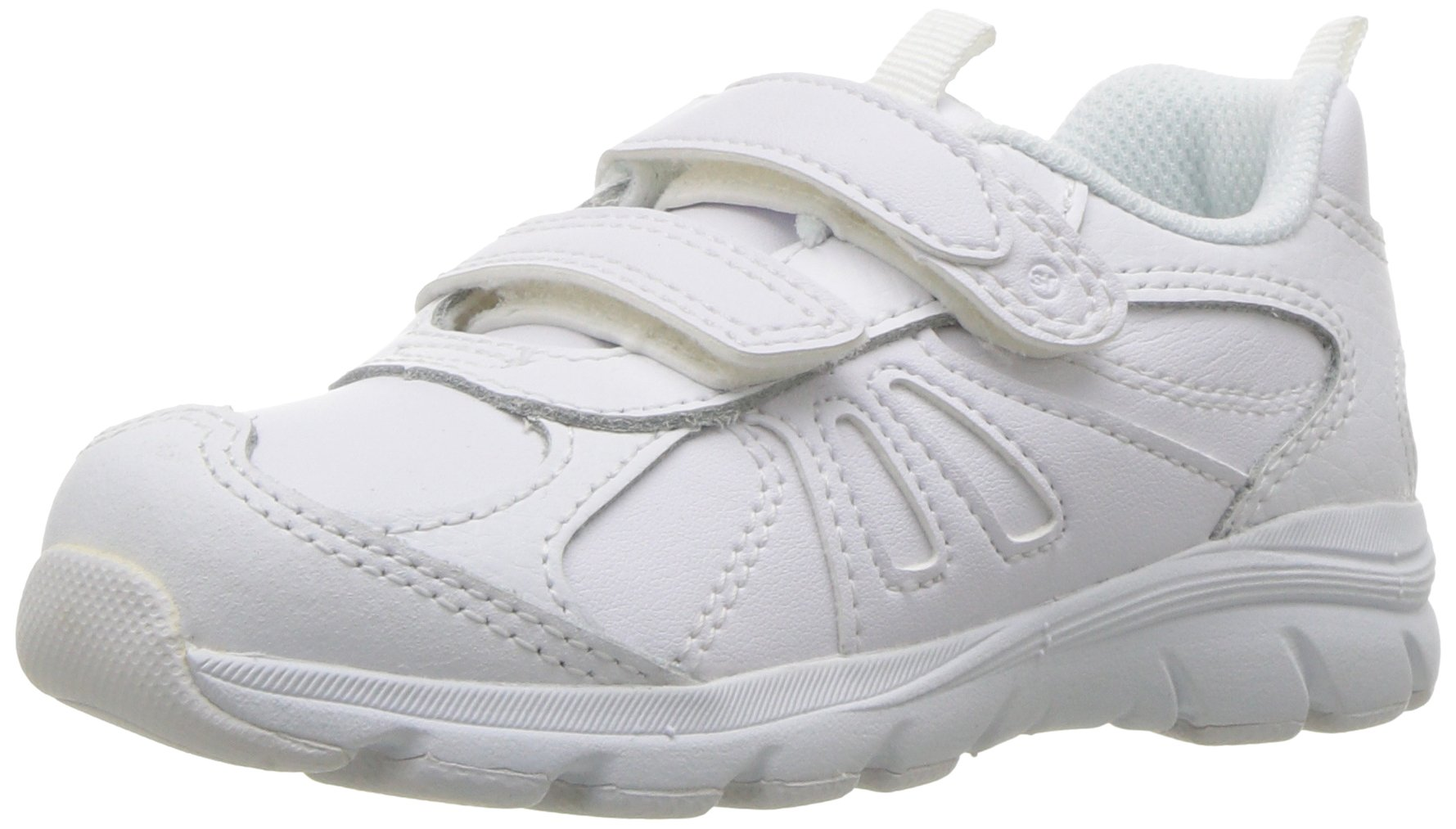 Stride Rite Boys' Cooper 2.0 H&L Sneaker, White, 13.5 M US Little Kid