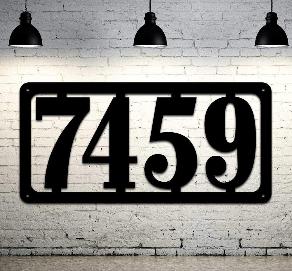 Home Address Sign Metal Address Numbers Address Sign Metal House Number Sign Address Number Sign Metal Address Sign A4