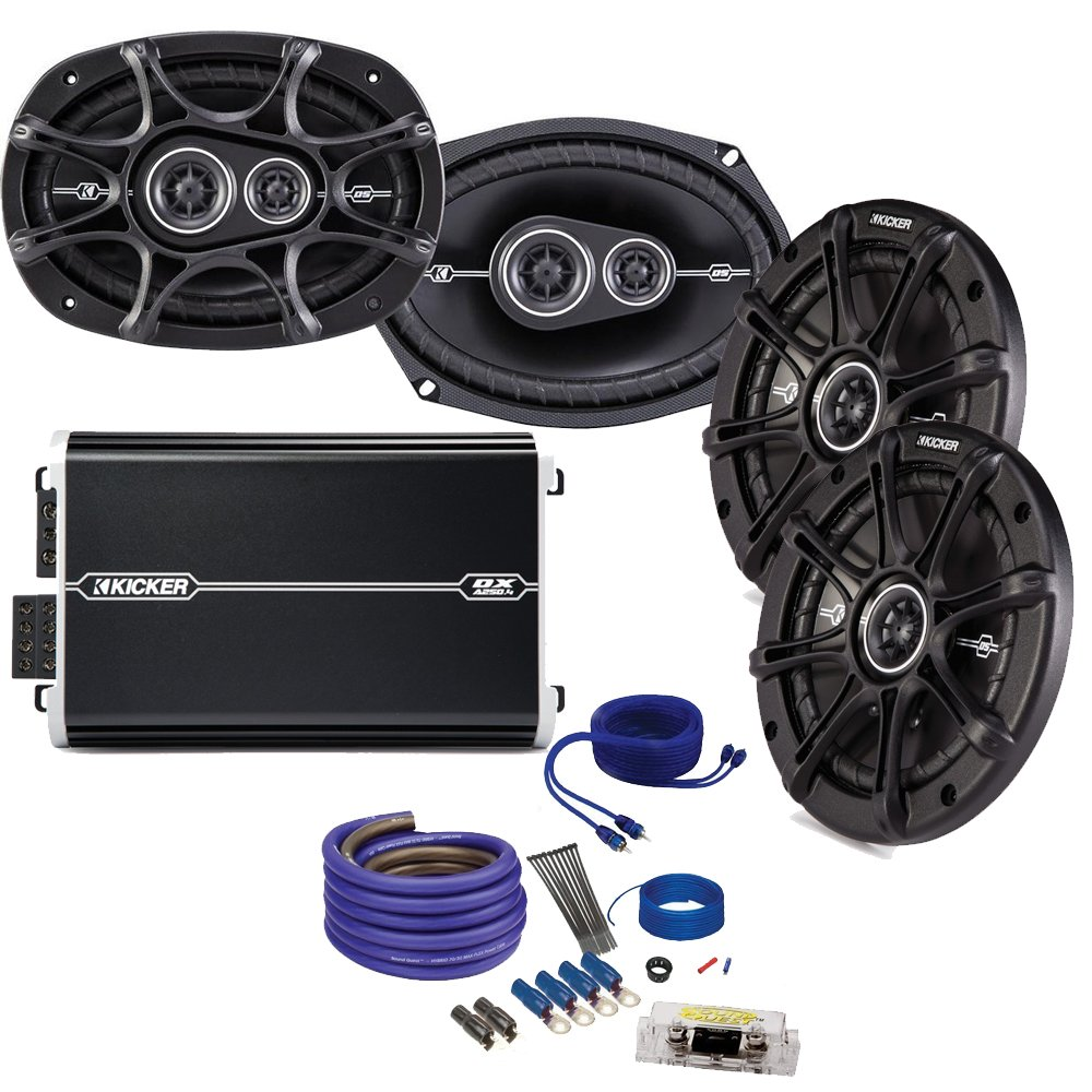 Kicker Ds 6x9 And 65 Speaker Package With Dxa Subwoofer Amp Amplifier Installation Wiring Kit Us 250 Watt 4 Channel Cell Phones Accessories