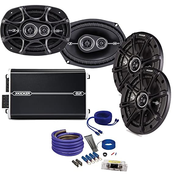 "Kicker DS 6x9 and 6.5"" Speaker package with Kicker DXA 250 watt 4-channel"