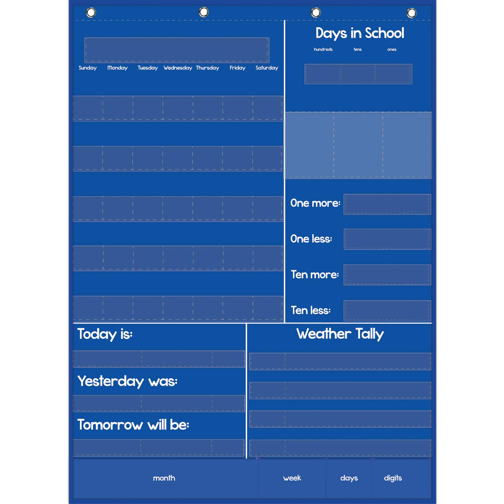 Really Good Stuff 161106 Efficient Classroom Daily Calendar, 22'' x 30'', Assorted by Really Good Stuff