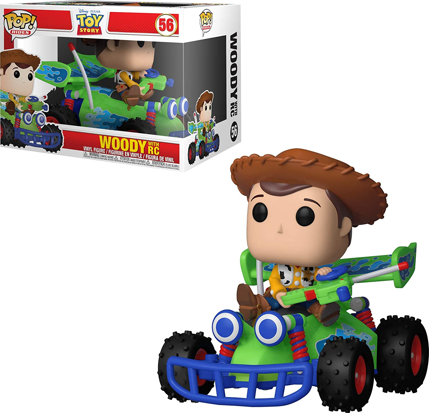 Funko Toy Story Pop Rides Woody w/RC, Multicolor, Talla Única (37016)