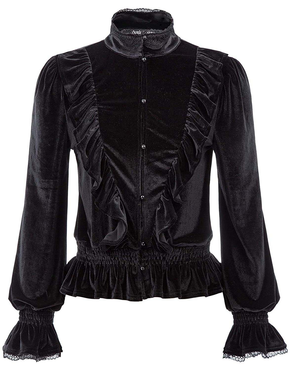 Victorian Blouses, Tops, Shirts, Sweaters SCARLET DARKNESS Womens Victorian Gothic Jacket Steampunk Stand Collar Coat $33.99 AT vintagedancer.com