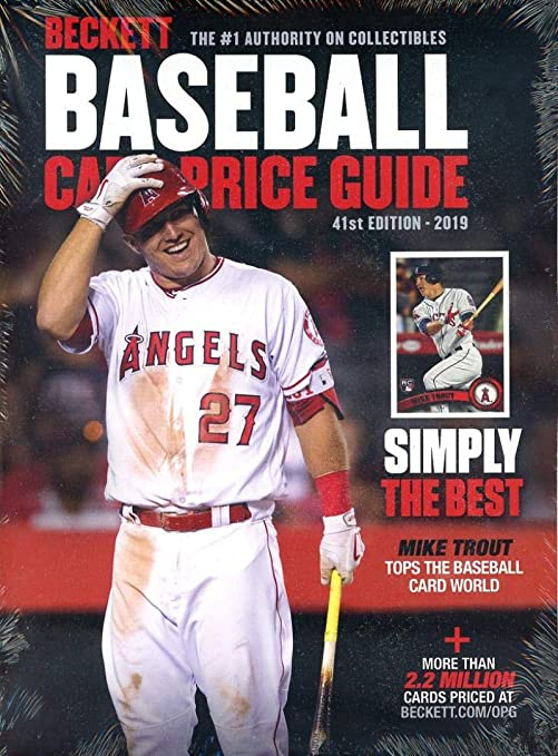 Beckett Annual Baseball Card Price Guide 2019 41st Edition Angels Mike Trout