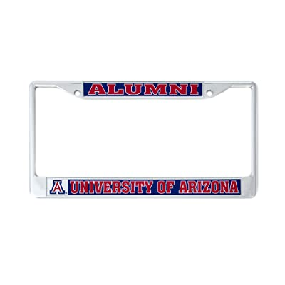 Desert Cactus University of Arizona UA Wildcats NCAA Metal License Plate Frame for Front Back of Car Officially Licensed (Alumni): Automotive
