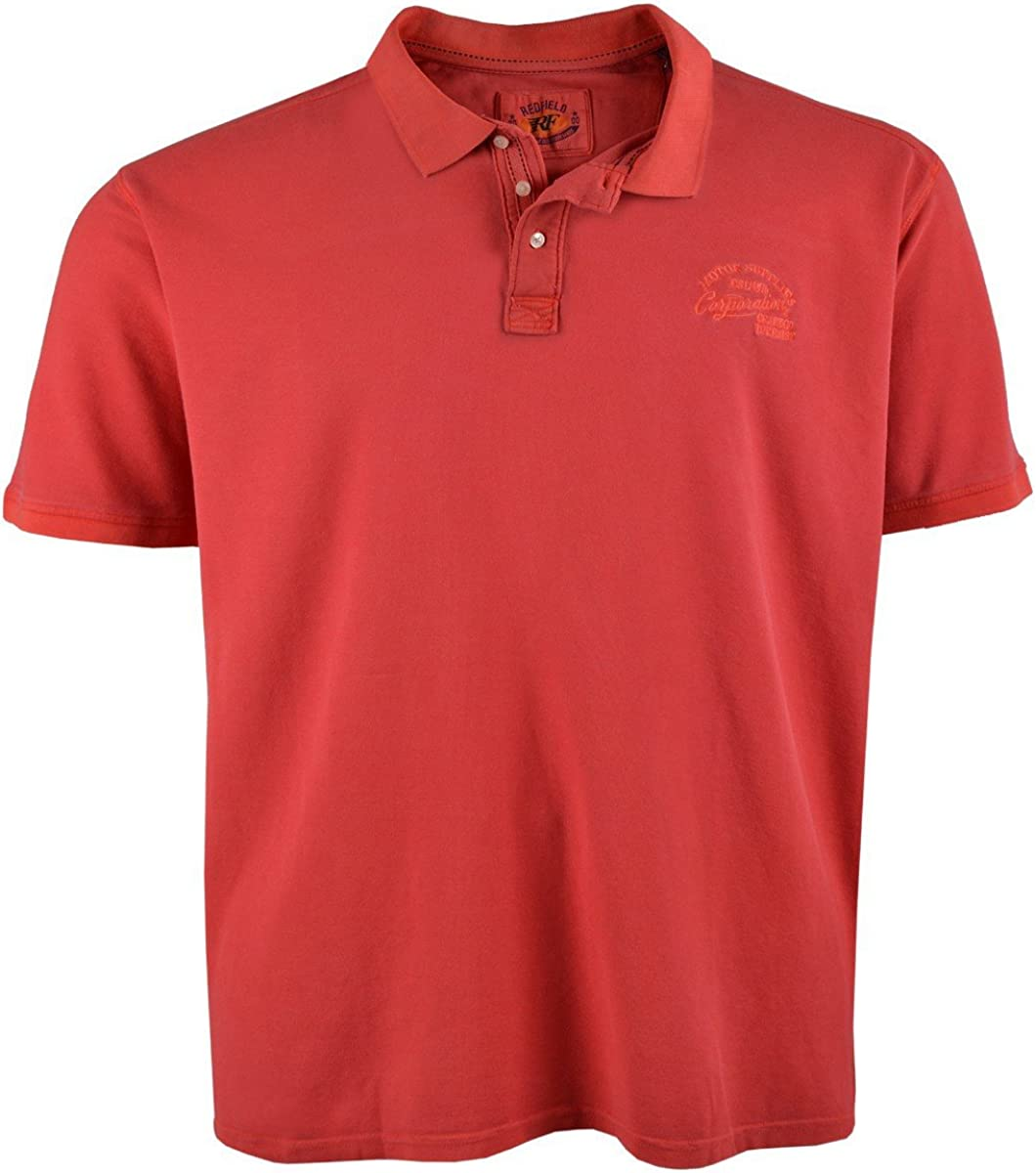 Redfield XXL Polo rojo-naranja, 2xl-8xl:6xl: Amazon.es: Ropa y ...