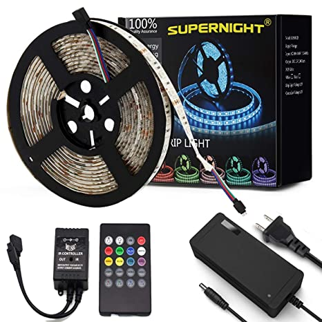 5050 RGB Led SMD Flexible Light Strip Lamp 5M Kit 5A Power Party Controller