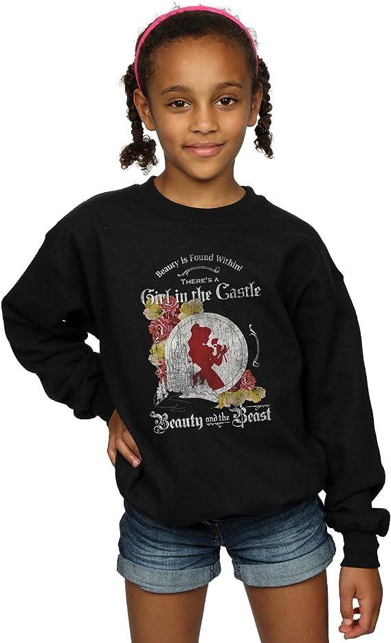 Disney Girls Beauty and The Beast Girl in The Castle Sweatshirt