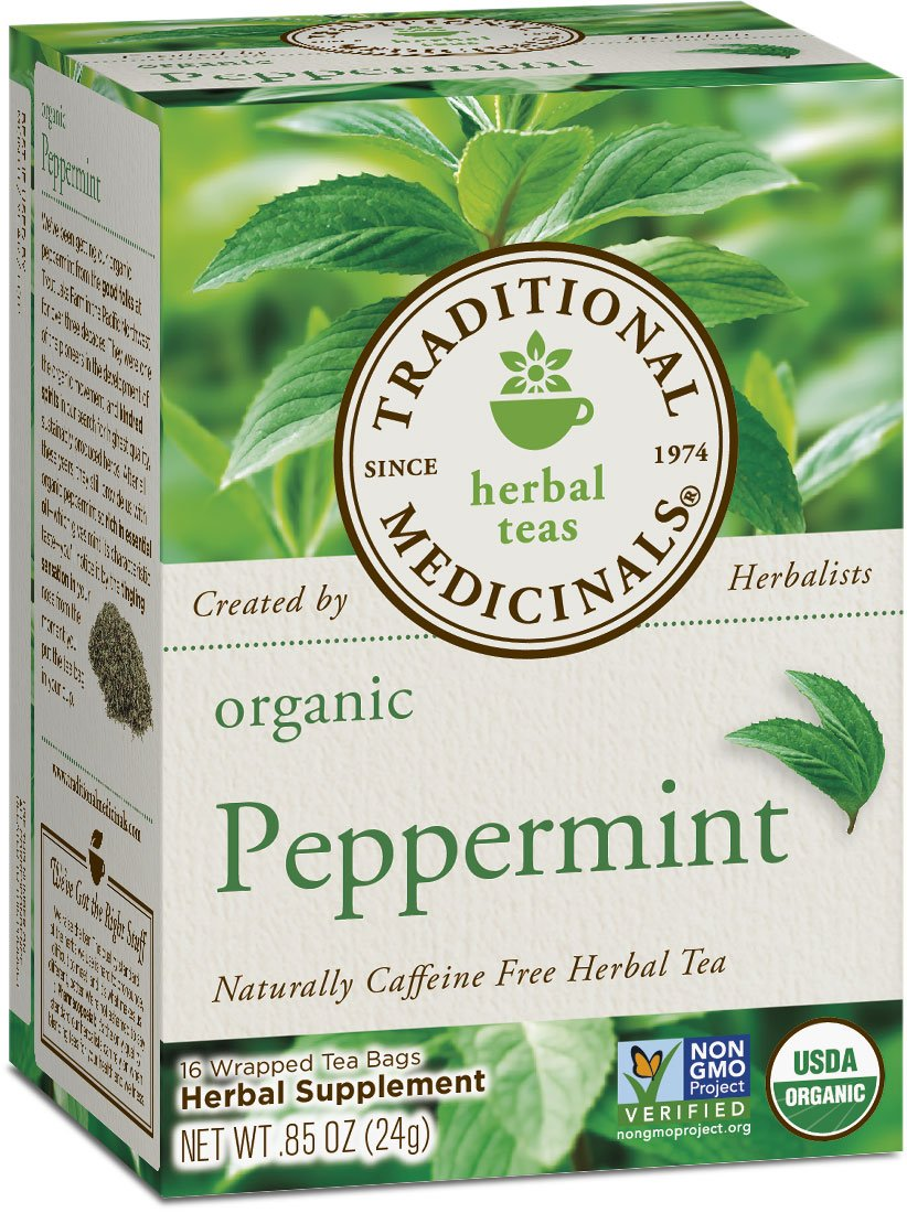Traditional Medicinals Organic Peppermint Tea, 16 Tea Bags (Pack of 6)