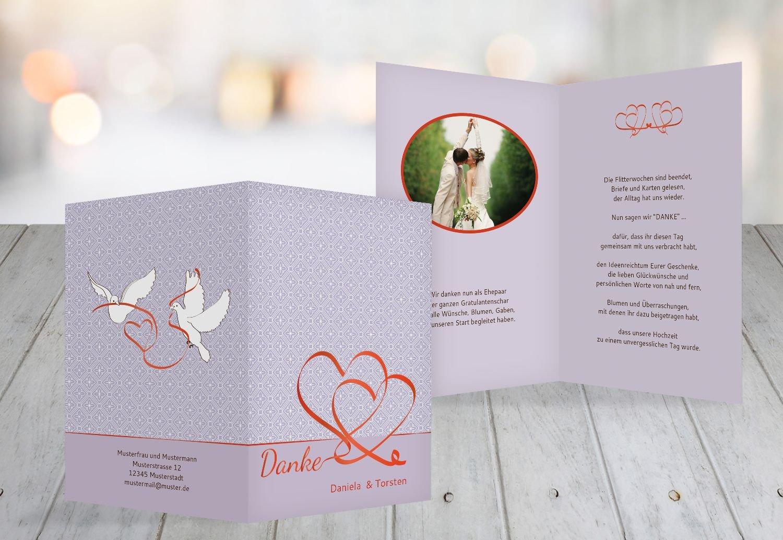 Kartenparadies Danksagung für Hochzeitsgeschenke Hochzeit Dankeskarte Turteltäubchen, hochwertige Danksagungskarte Hochzeitsglückwünsche inklusive Umschläge   20 Karten - (Format  105x148 mm) Farbe  DunkelgrauBraun B01NBX5J7P | Be