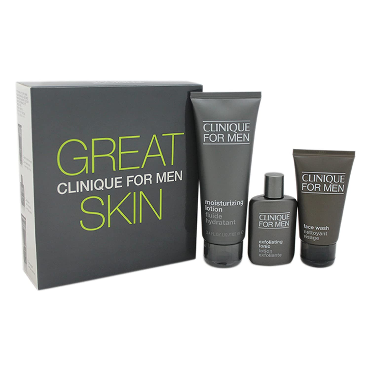 Clinique Great Skin for Him Normal To Dry Skin 3 Piece Gift Set for Men