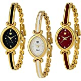 SWADESI STUFF Bangle Analogue Multicolor Watch for Women Combo of 3