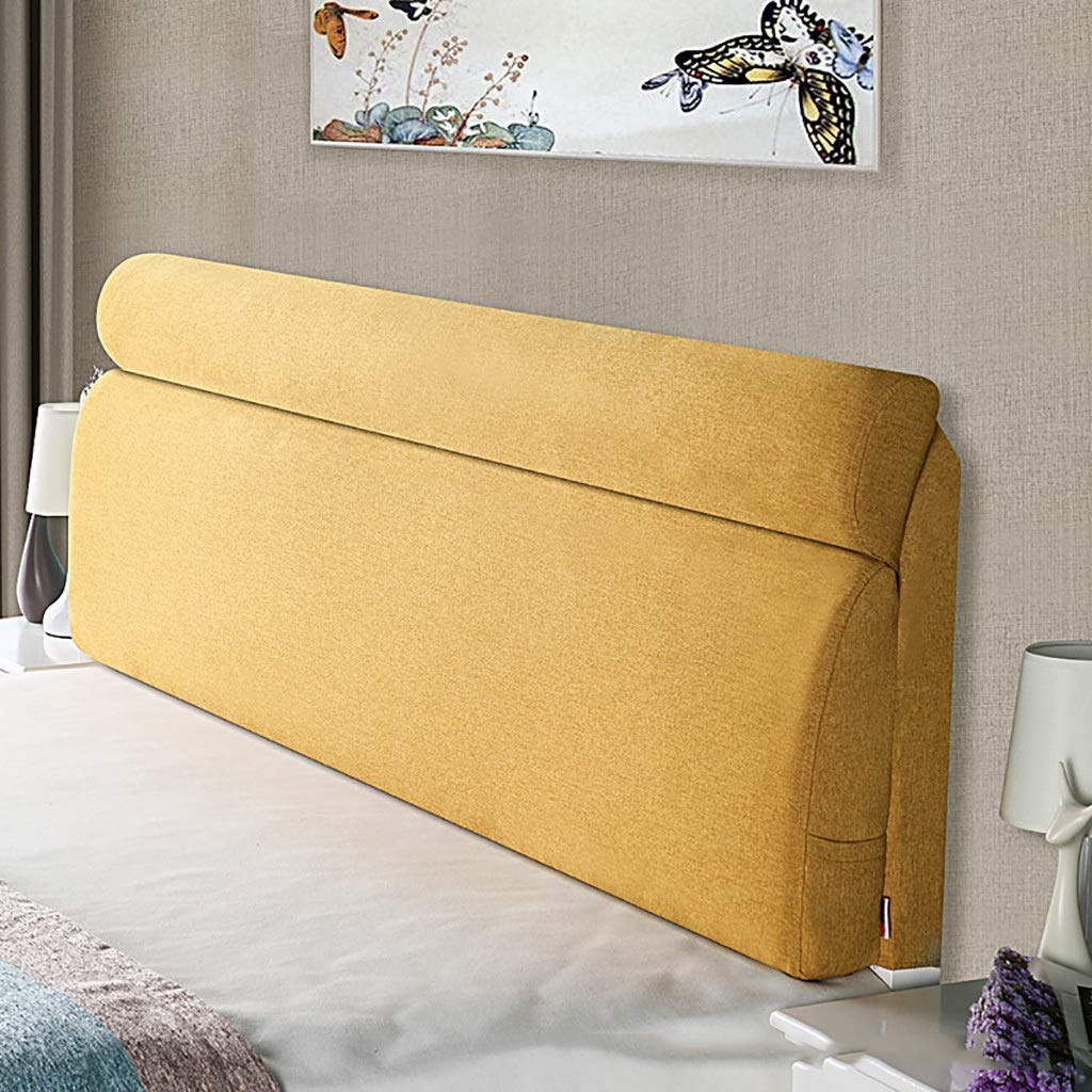 E 200cm Large Soft Upholstered Headboard Cushion Wall Pillow Lumbar Pad Bed Backrest Breathable Removable Washable (color   D, Size   200cm)