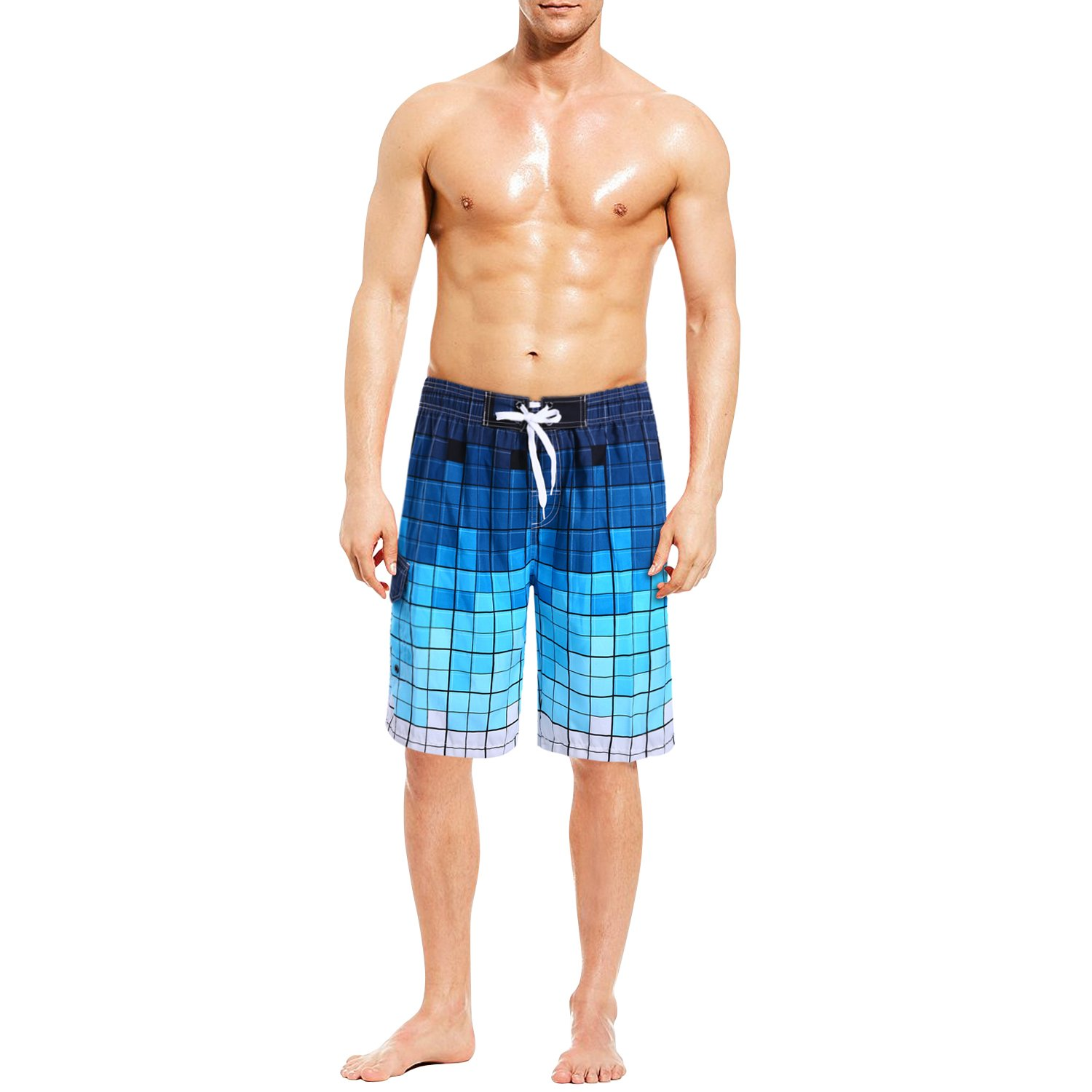 MIGOHI Men's Swim Trunks Summer Outdoor Swimsuit Quick Dry with Mesh Lining