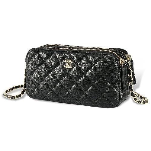 fca7218dd12d Caterella Women s Handbags Messenger Chain Bag Package Shoulder Bag  Crossbody Bag Gold Metal For Womens (