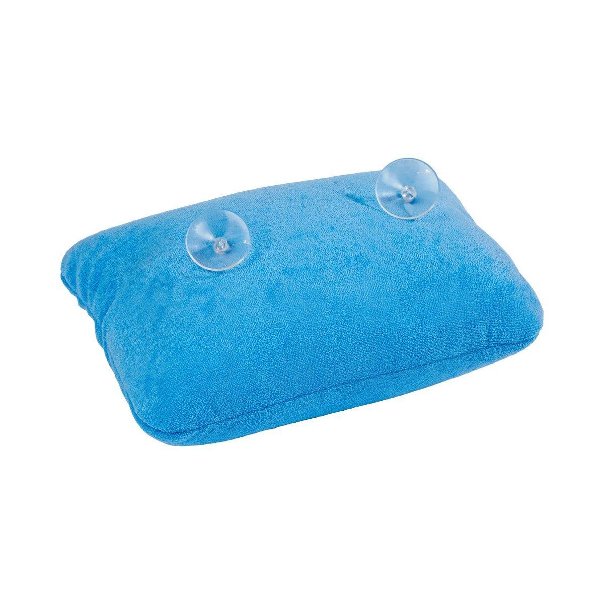 1 A-handelsagentur appui-tête pour baignoire de luxe couleur : bleu avec ventouses pour baignoire avec coussin microperlen de nuque