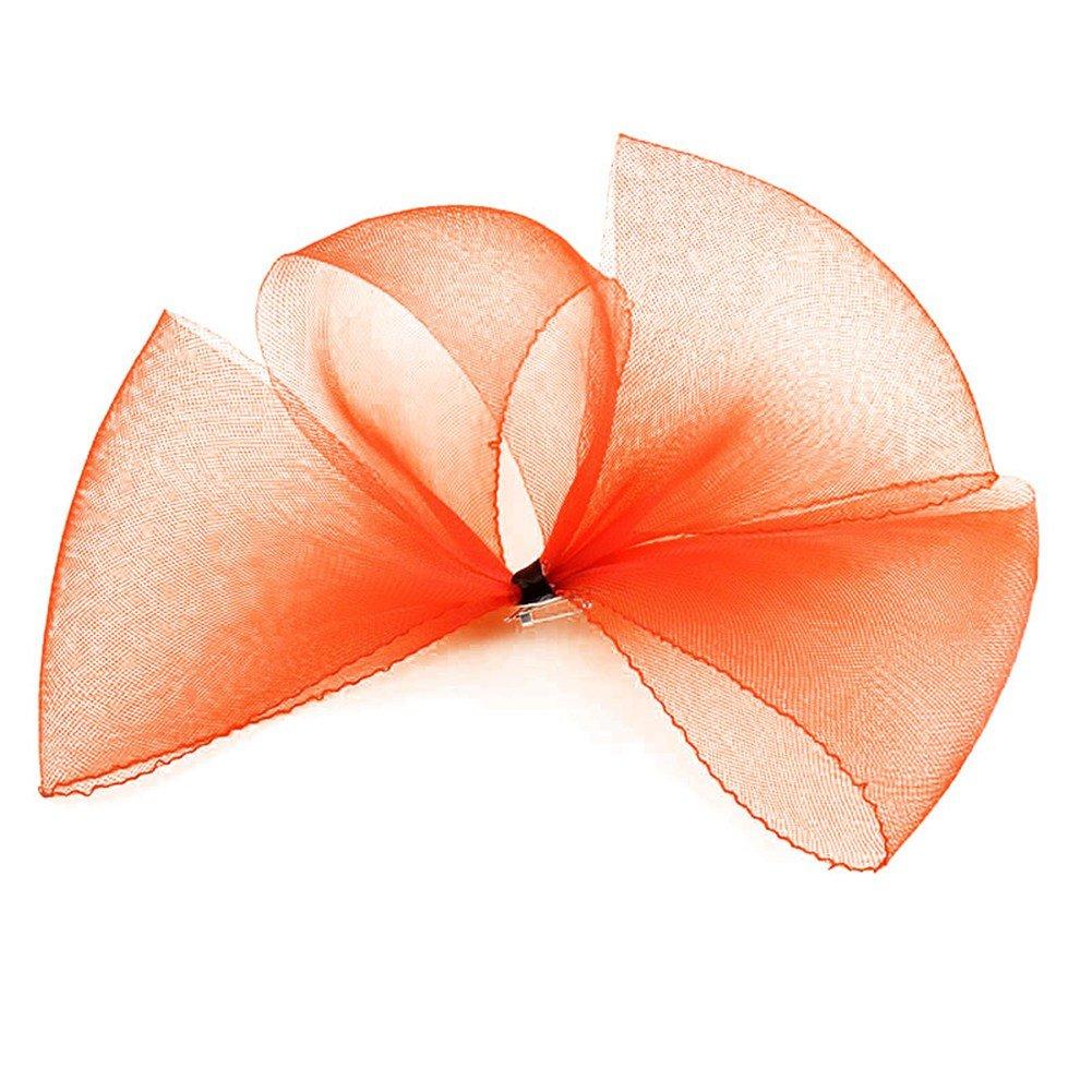 ACTLATI Womens Large Mesh Net Bowknot Hair Clip Party Wedding Fascinator Headwear