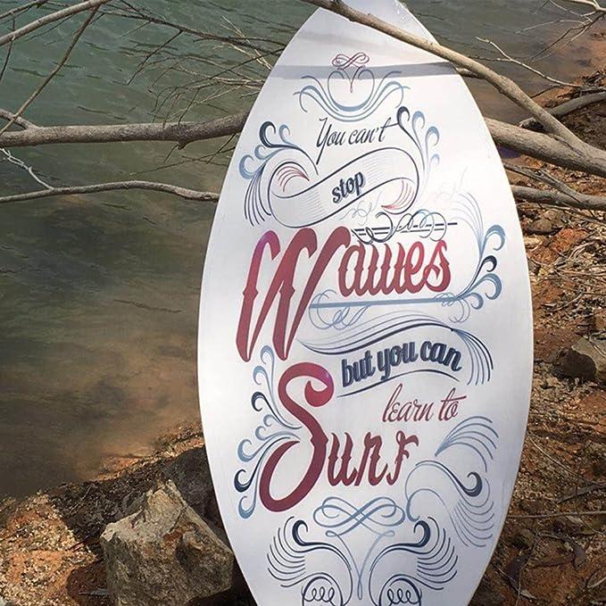 LF-Water Toys Tablero De Arena De Madera Tabla De Arena Adulto Tabla De Surf Adulto Profesional De Pie 104 * 50 Cm,White: Amazon.es: Hogar
