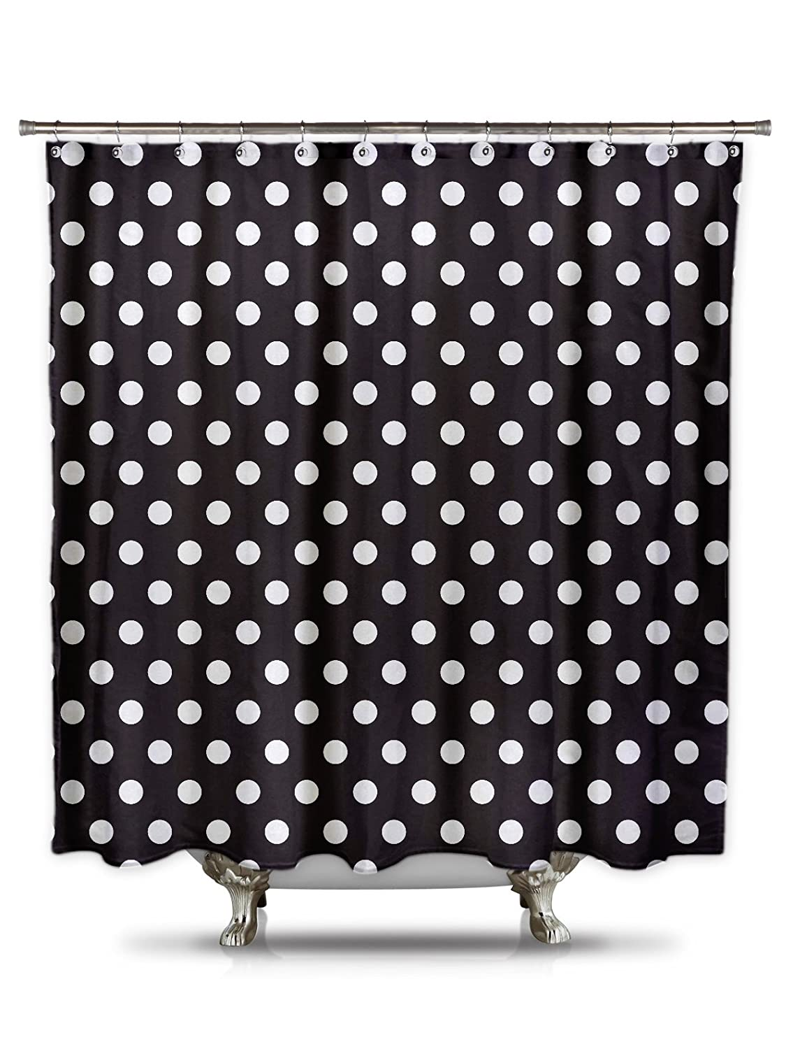 Polka dot shower curtain black and white - Amazon Com Shower Curtain Hq Black And White Polka Dot Shower Curtain 70in X 78in 100 Polyester Mildew And Wrinkle Resistant Bold Classic Pattern