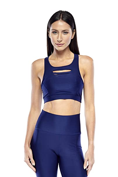 b9879ff1138 Electric Yoga Slash Bra - Laser-Cut - High Impact Cross Back Women Sports  Bra at Amazon Women s Clothing store