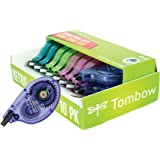 Tombow 68723 Mono Retro Correction Tape, Assorted Colors, 10-Pack. Colorful, Easy to Use Applicator for Instant…