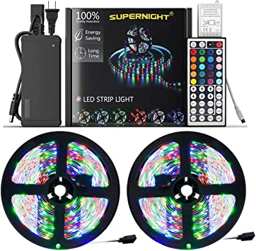 44FT Flexible 3528 RGB LED SMD Strip Light Remote Fairy Lights Xmas Home Decor