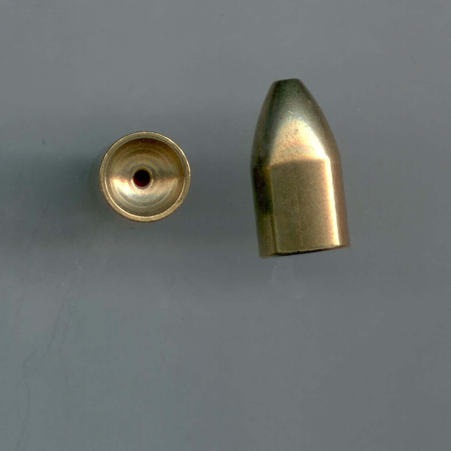 Details about  /RealPlus Fishing Sinkers Kit with 5 Sizes Brass Bullet Weights and Plastic Beads
