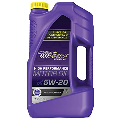 Royal Purple 51520 API-licensed SAE 5W-20 High Performance Synthetic Motor Oil