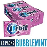 Orbit Bubblemint Goma de mascar sin azúcar, 14 piezas, (paquete de 12)