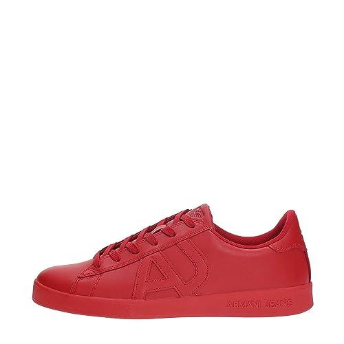 AJ Armani Jeans 935565 Sneakers Uomo Rosso 45  Amazon.it  Scarpe e borse 047bb25085a