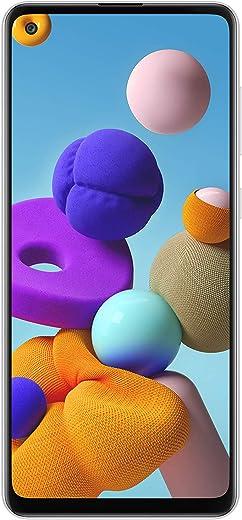 هاتف سامسونج جالكسي ايه 21 اس - 128 جيجا، رام 4 جيجا، الجيل الرابع ال تي اي، ابيض