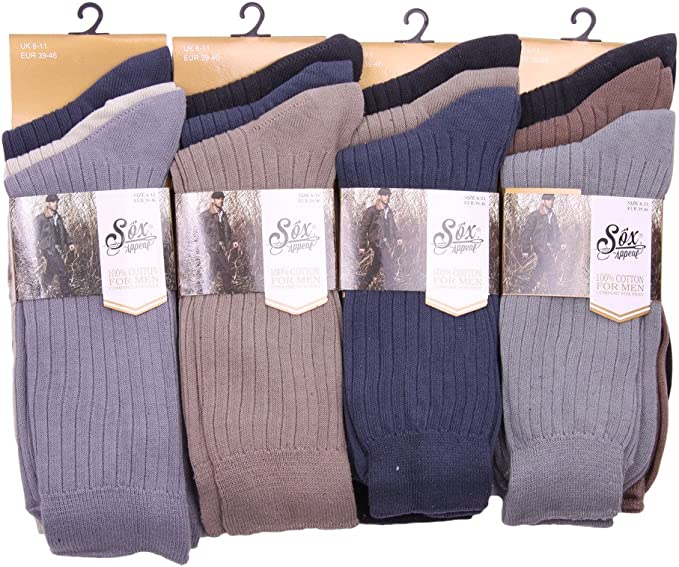 3 Pairs Mens Plain Black Cotton Everyday Ankle Socks Causal Formal Lot Size 6-11
