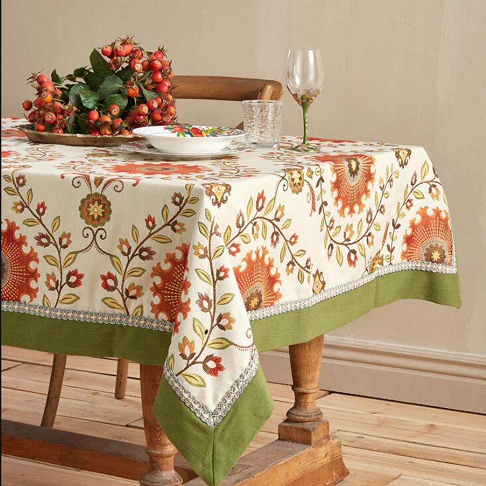 AMY Amerikanische Farbgewebe Tischdecke europäischen Couchtisch Kissen Tischdecke Café Restaurant Tisch Matte Tischdecke (Farbe   Grün, Größe   140  200cm) rot 130130cm