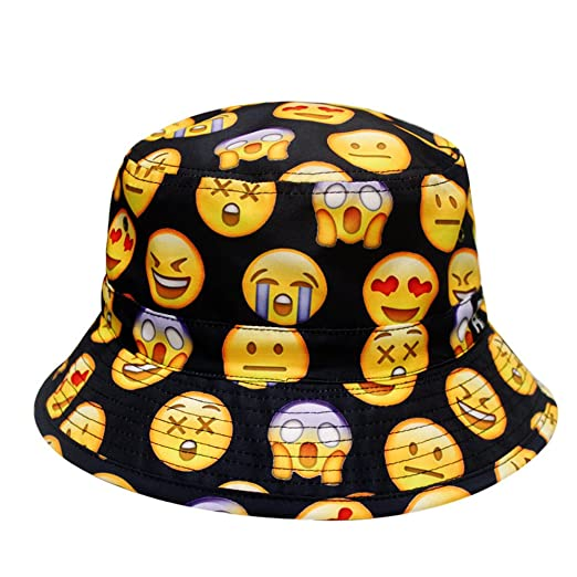 4fdea153ae5 City Hunter Bd1250 Face Emoji Bucket Hats - Black at Amazon Women s ...
