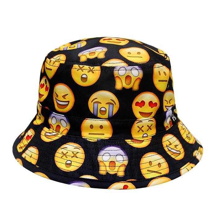 040c1f6b7c7 City Hunter Bd1250 Face Emoji Bucket Hats - Black at Amazon Women s ...