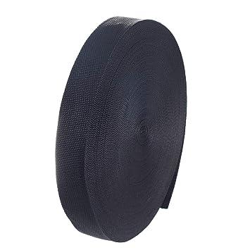 50 metros x 38mm Correa de correas de polipropileno - 1,4mm espesor - multiusos PP Cinta para bricolaje Craft Mochila Flejes Delantal Bolsas, negro TKB5071 ...