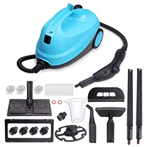 MLMLANT Steam Cleaner System,2 Liter Water Tank Capacity 1500 Walt Heavy Duty Steam Mops with 20 Piece Accessory Set - Multi Purpose and Multi-Surface for Kitchen Floors