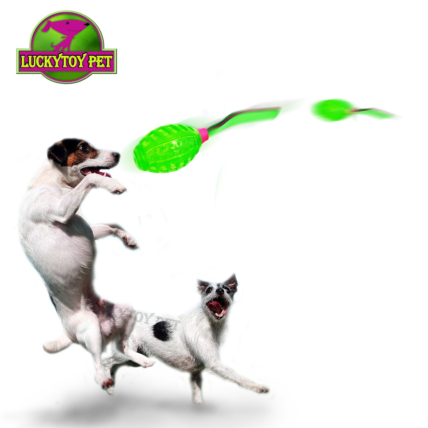 Dog Toys Throwing Rubber Football with Whizzing Sound for Puzzle Training and Playing