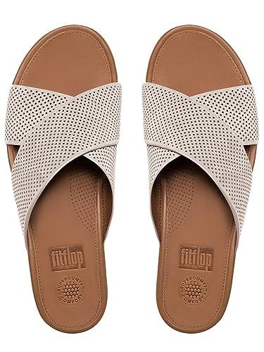 72c2fbc3090b Fitflop Women s AIX Perf Nubuck Slide Sandals