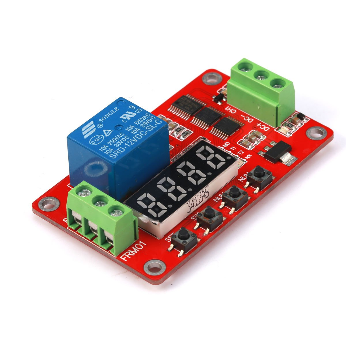 Geri Newer Version 12v Multifunction Relay Cycle Timer Module Two Based Motorcycle Alarm Circuits Programmable With Customized Settings Increased To 18 Modes