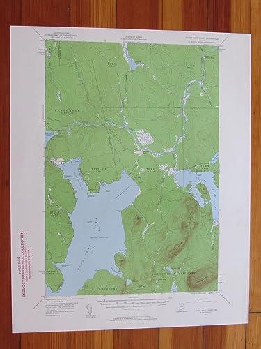 Amazon.com: North East Carry Maine 1960 Original Vintage USGS Topo on