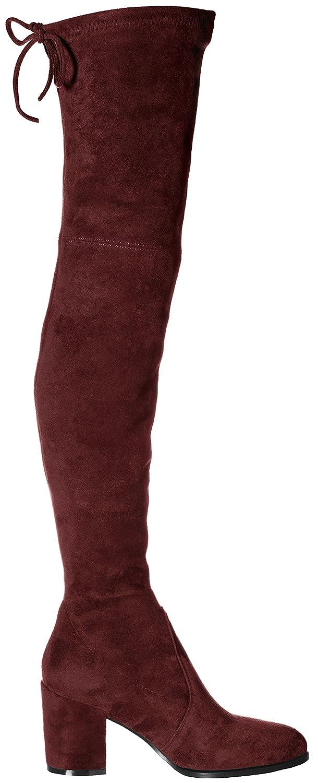 Kaitlyn Pan Block Heel The Microsuede Slim fit Over The Heel Knee Boots B06W2N5J8M 8.5US/ 40CN|Burgundy Red 1bb019