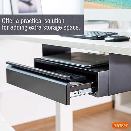 nero Infradito colorati estivi con finte perline Cassetto portamatite scorrevole sotto la scrivania