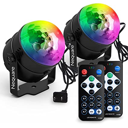 Outdoor Disco Lights Amazon nequare party lights disco ball sound activated strobe nequare party lights disco ball sound activated strobe light 7 lighting color disco lights with remote workwithnaturefo