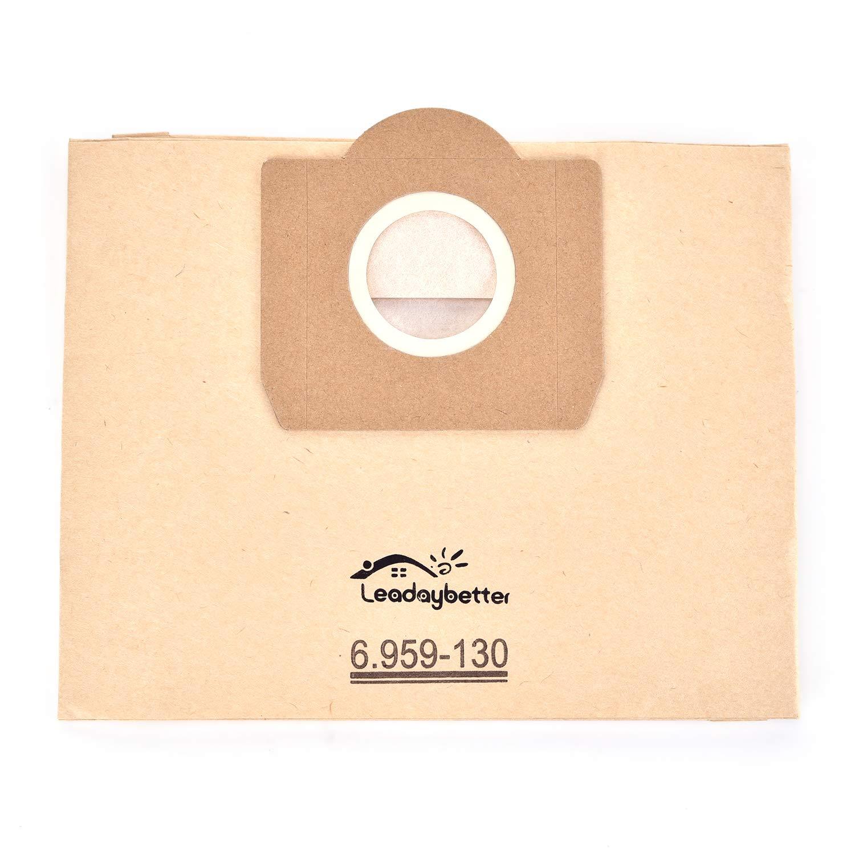 /130.0/bolsas de papel filtro Bolsas de aspiradora compatible Karcher 6.959/ a 2201//2204//2504 10/unidades
