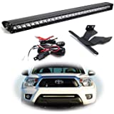 iJDMTOY Lower Grille Mount 30-Inch LED Light Bar Compatible With 2005-2015 Toyota Tacoma, Includes (1) 150W High Power…